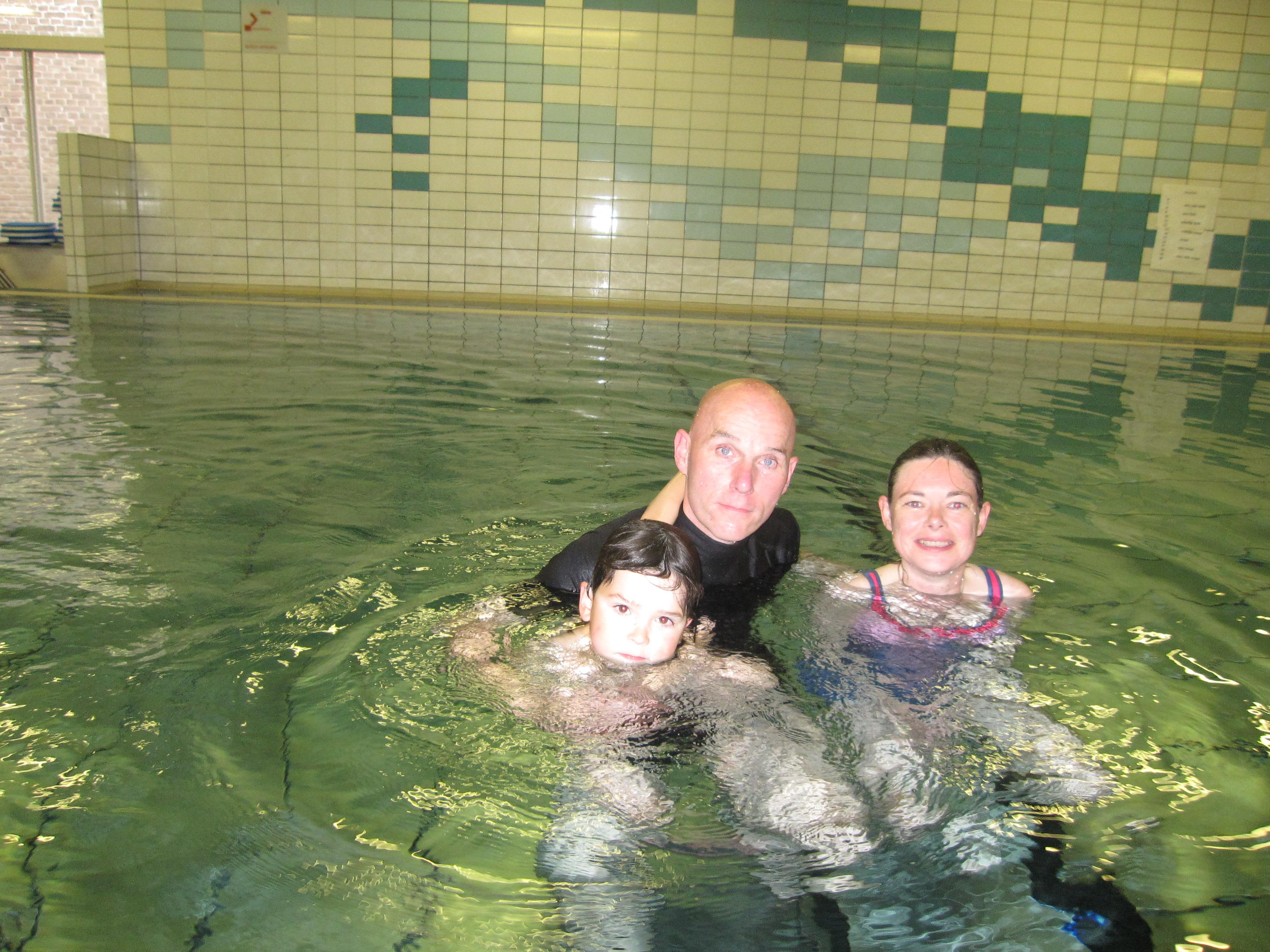 Zwemgroep drijfsijs vrijzwemmen